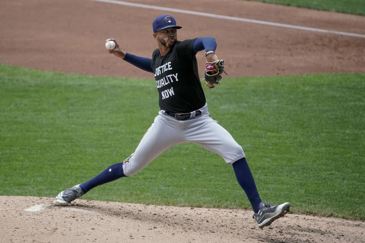 Brewers reliever Devin Williams, AP generic file photo