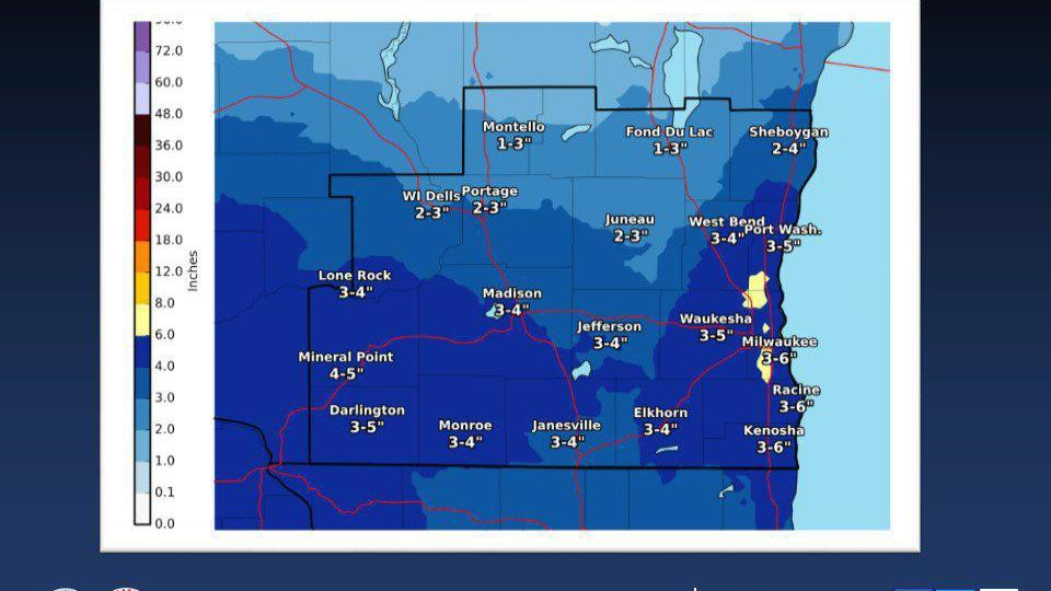 Snowy Sunday for southern Wisconsin, more snow coming later in week. See how much is forecast and when