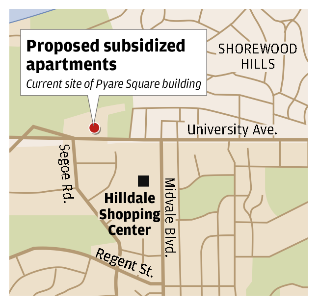 Map: Shorewood Hills apartments