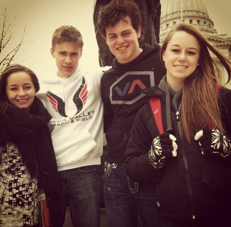 Beau Solomon with high school friends, photo by friend Mike Honer