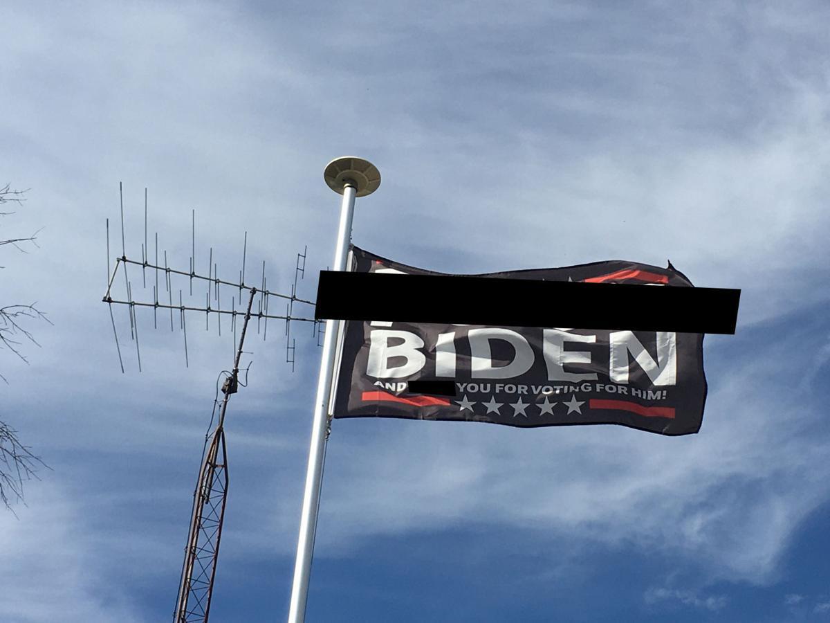 'F--- Biden' flag in Burlington