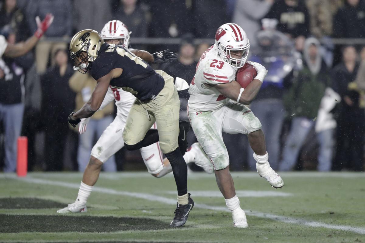 Jonathan Taylor scores winning TD vs Purdue, AP photo