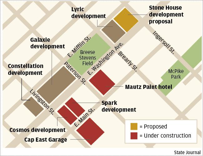 East Washington developments map