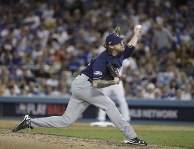 NLCS Brewers Dodgers Baseball
