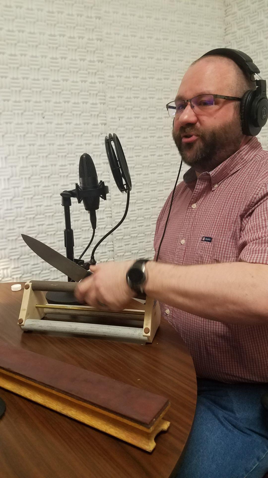 Adam Haen sharpening knives