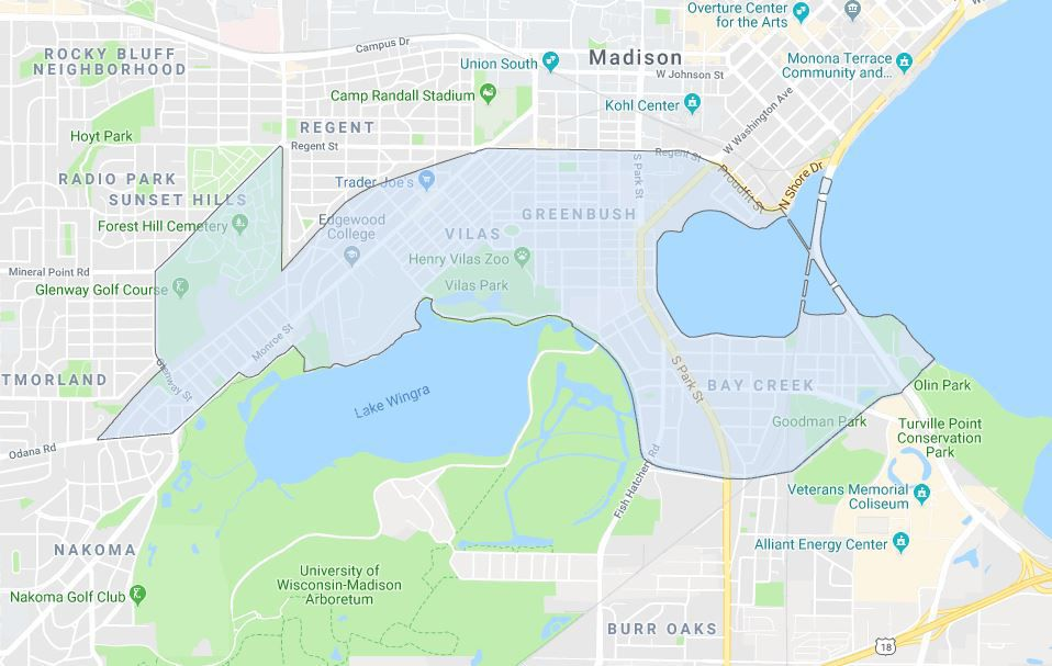 District 13 boundaries