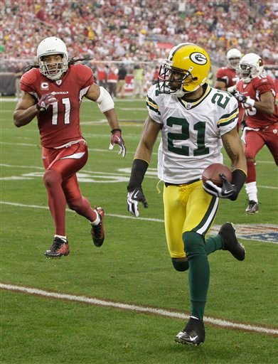 Charles Woodson, Larry Fitzgerald, Packers at Cardinals