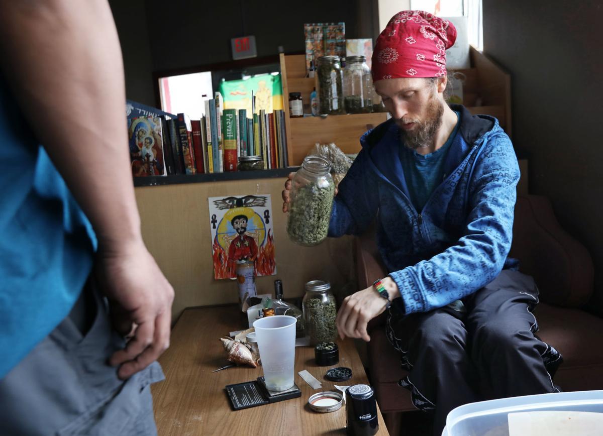 Schworck prepares cannabis
