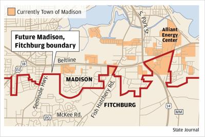 Town of Madison boundaries