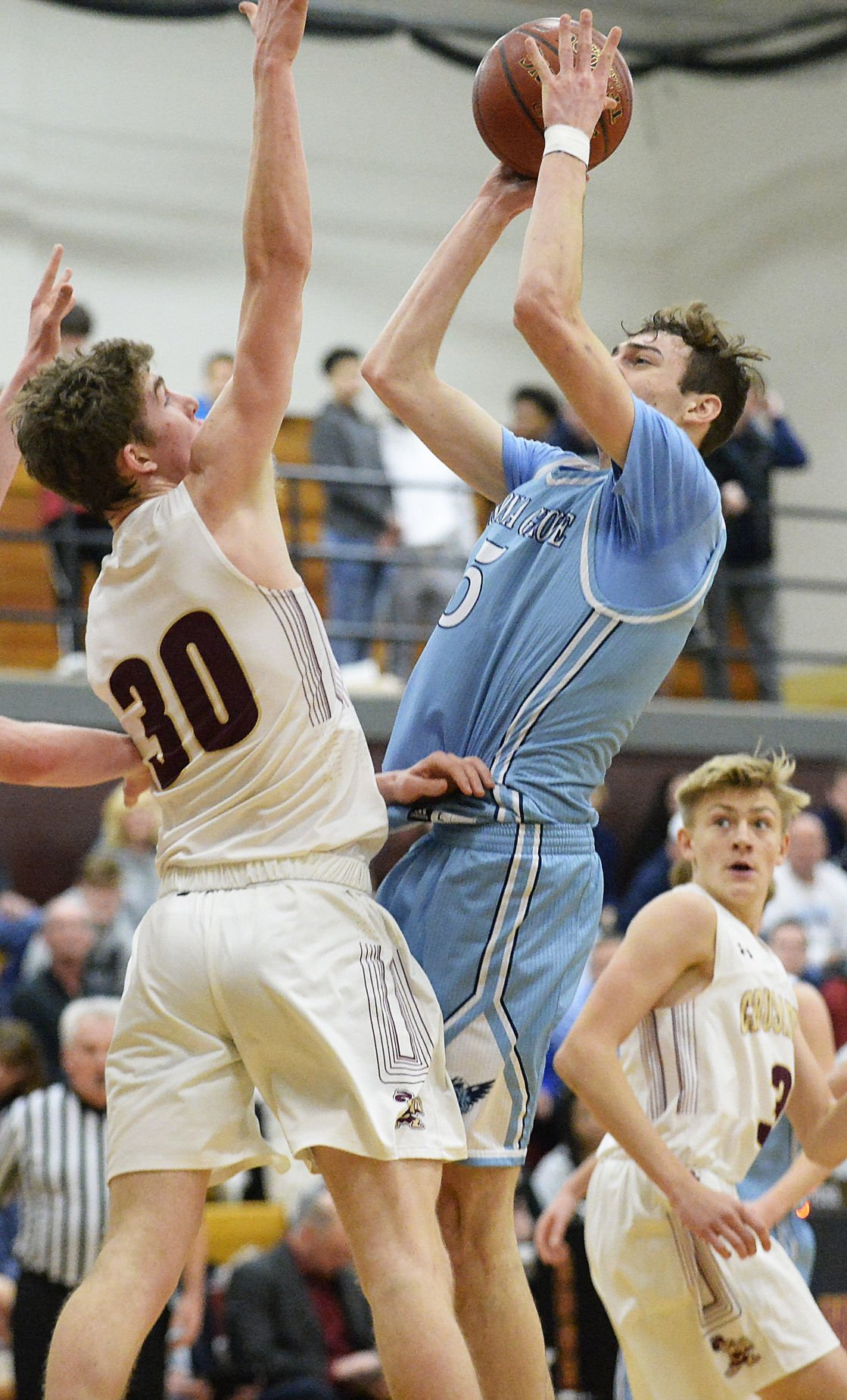 Prep boys basketball photo: Edgewood's Michael Meriggioli, Monona Grove's Sam Hepp