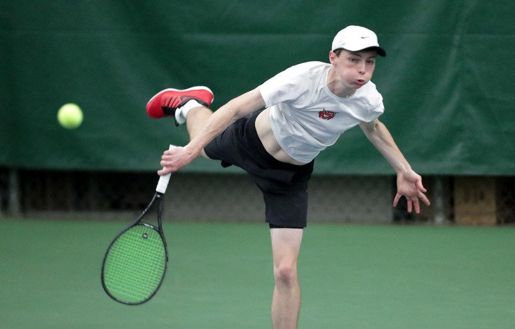 WIAA boys tennis photo: Verona senior Will Tennison