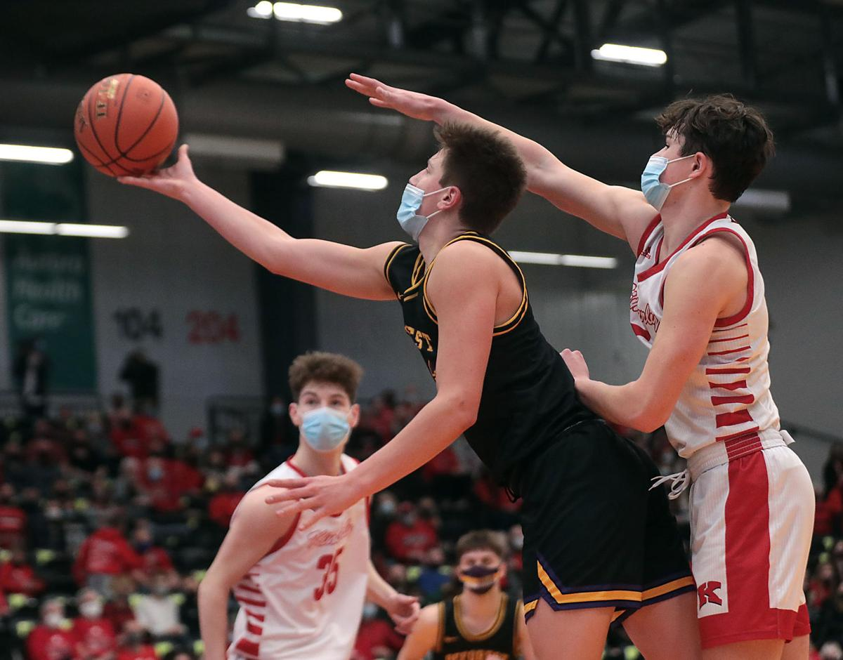 WIAA state boys basketball photo: DeForest's Max Weisbrod