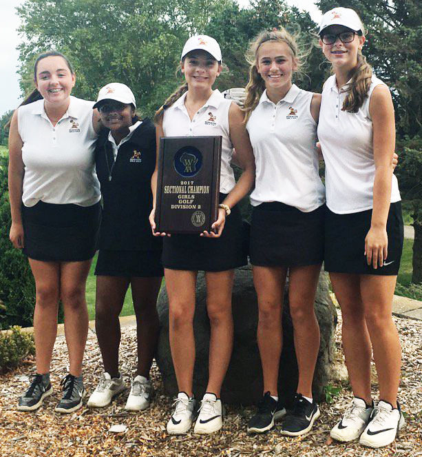Prep girls golf photo: Madison Edgewood celebrates its return to the WIAA Division 2 state tournament