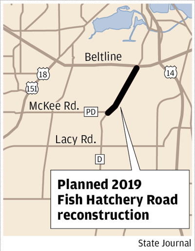 Planned 2019 Fish Hatchery Road reconstruction