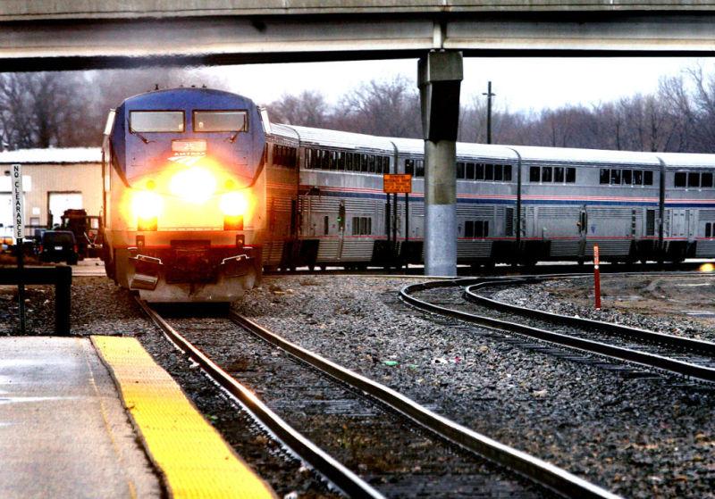 Passenger train in La Crosse