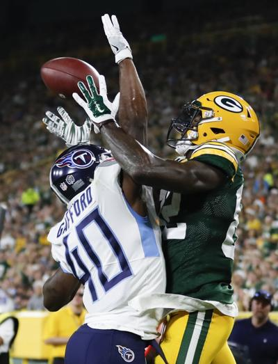 1b4e6700d9c Packers rookie receiver J Mon Moore had nine catches for 102 yards in the  preseason.
