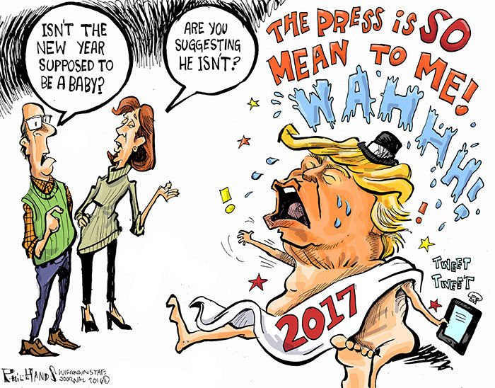 Hands on Wisconsin: Donald Trump plays baby New Year   Opinion ...