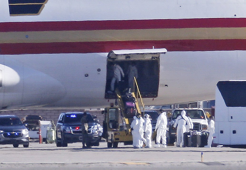 USE WITH AP STORY----China Outbreak US Plane