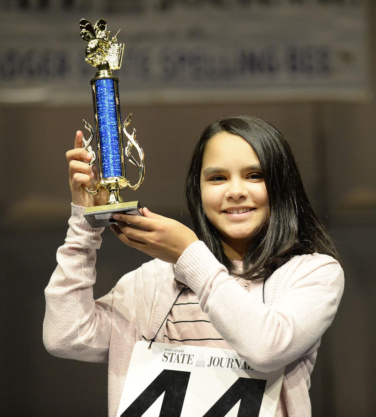 Badger State Spelling Bee champion Maya Jadhav