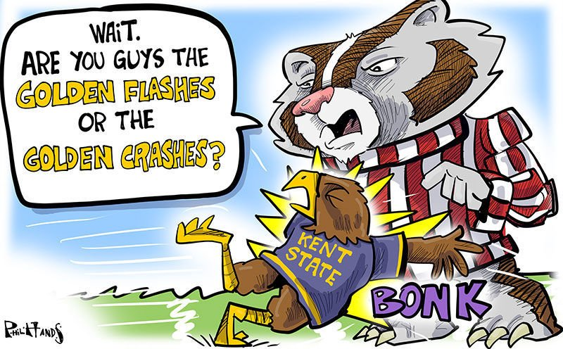 Kent State Golden Flashes crash into Bucky