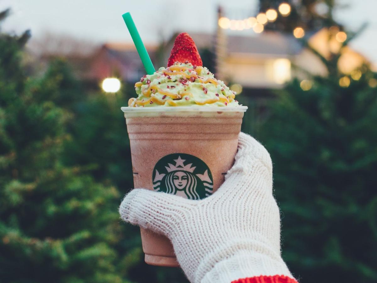 Starbucks' Christmas tree latte