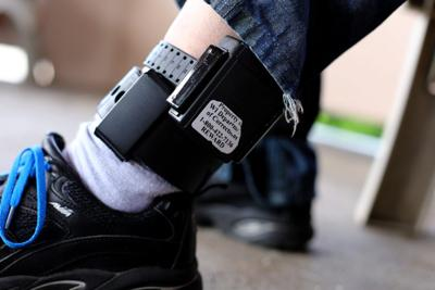 A Registered Offender Shows His Gps Ankle Bracelet Many Such Offenders On Electronic Monitoring Become Homeless Because Of Restrictive Housing Laws