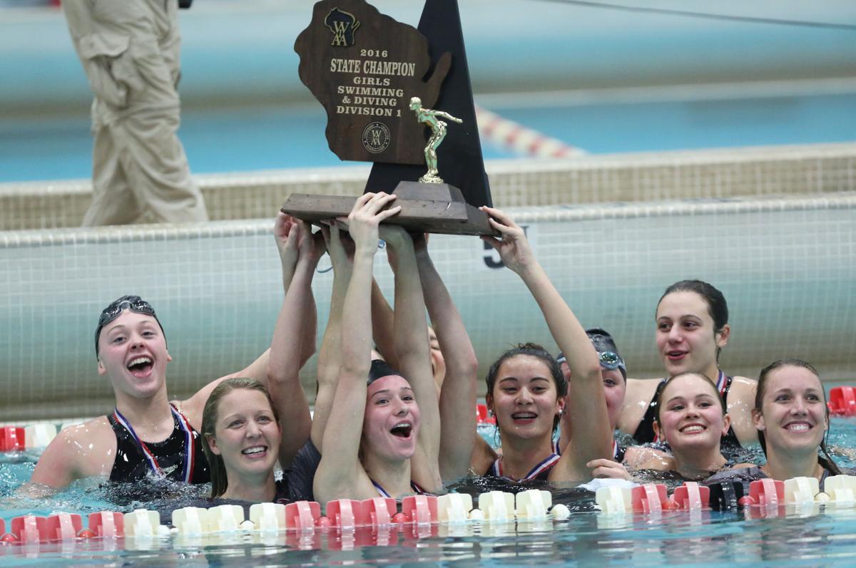 Middleton girls swimming, state championship