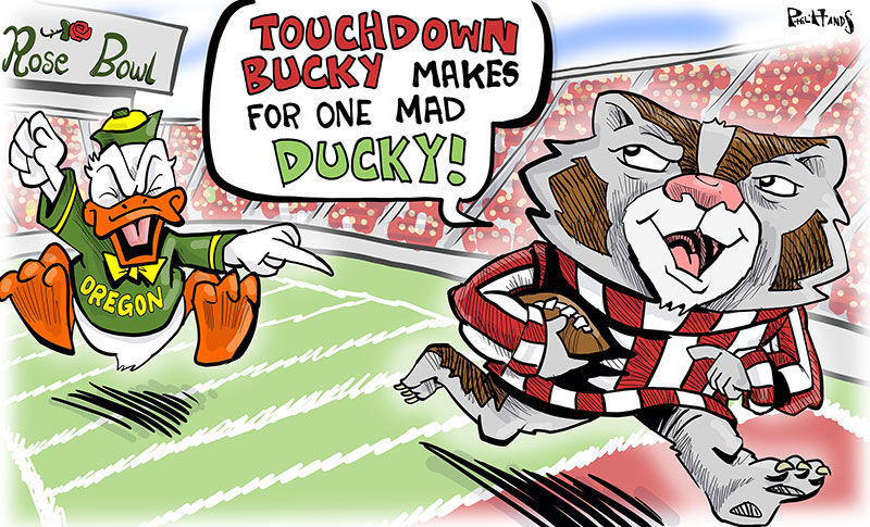 Bucky makes the Ducks mad