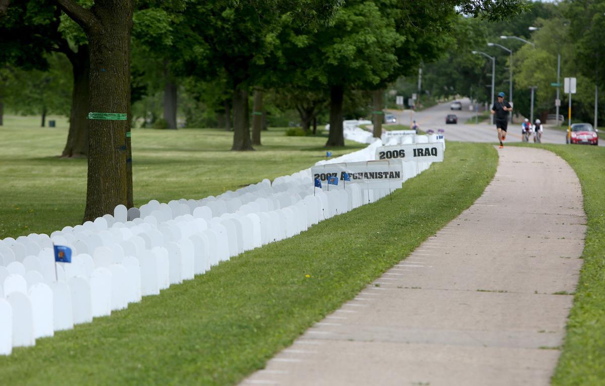 Veterans For Peace Memorial Mile >> Photos Veterans For Peace Assemble Memorial Mile At Olbrich Park