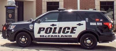 McFarland Police Department squad car generic file photo