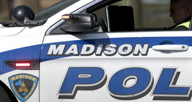 Madison squad car very tight crop