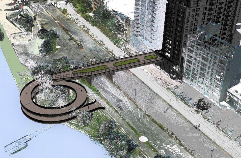 PRINT ONLY -- Double-decker trail bridge
