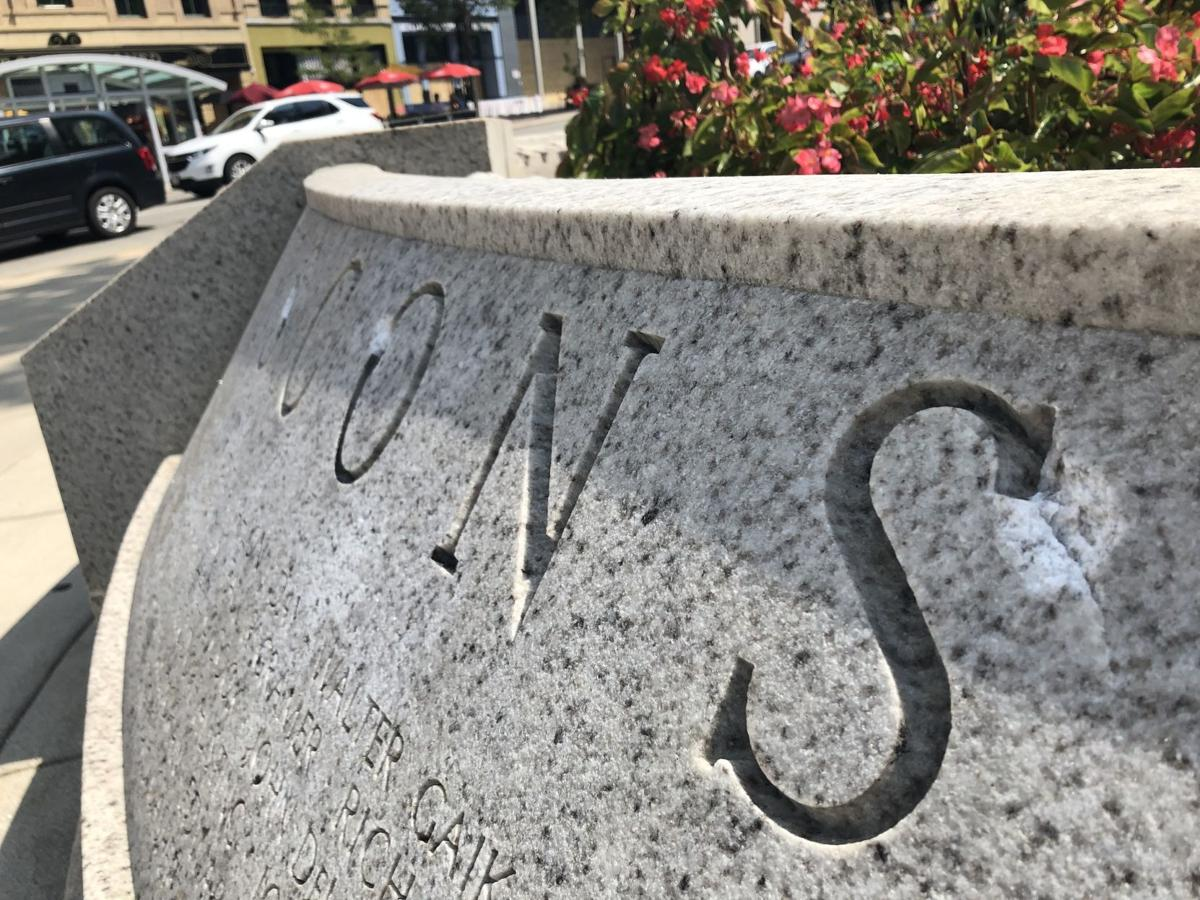 Wisconsin Law Enforcement Memorial damage