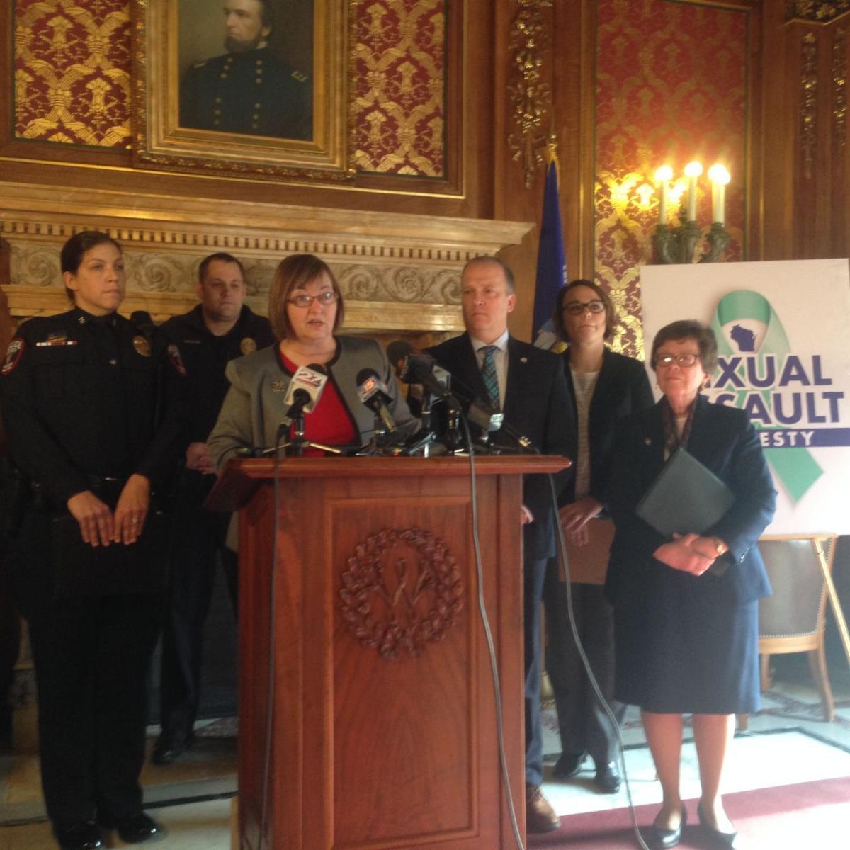 Sexual assault amnesty bill press conference