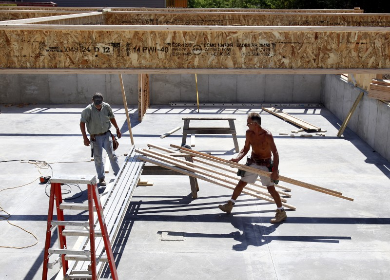 Choosing a home builder, workers in basement