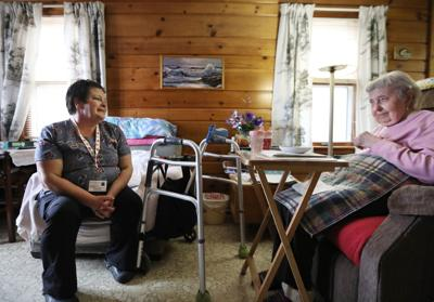 Tammy with Frances in Eagle River
