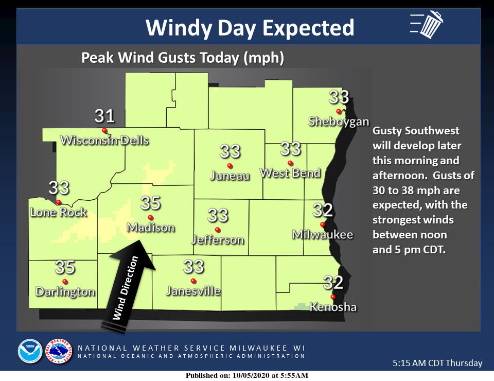 Windy Monday by National Weather Service