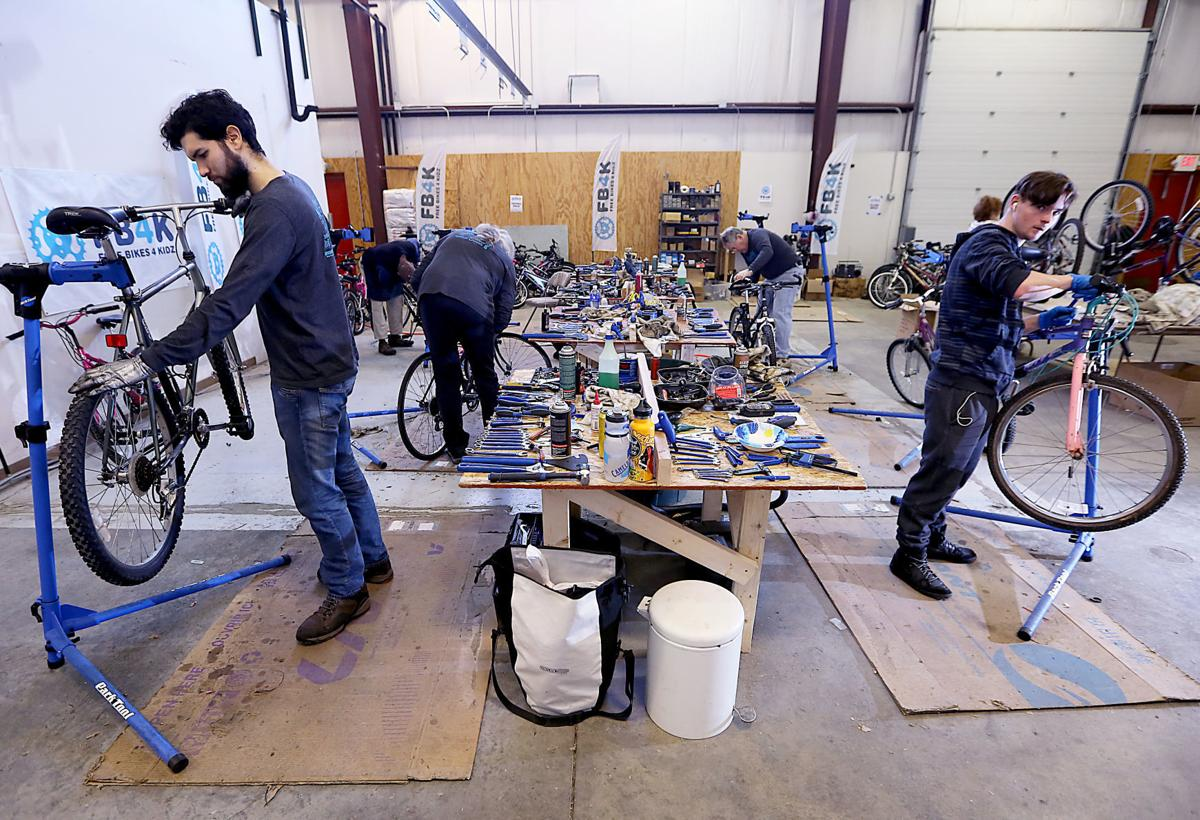 Mechanics at Free Bikes 4 Kidz Madison