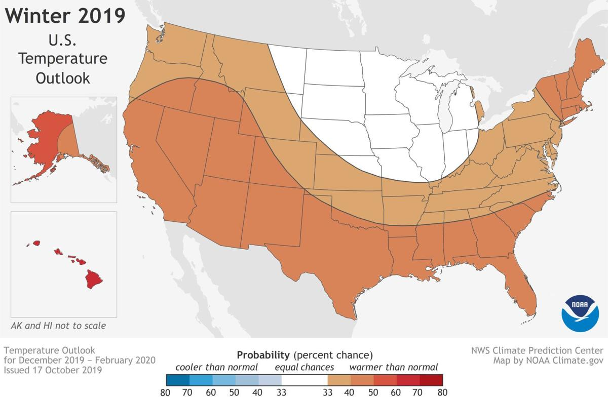 Winter 2019-20 U.S. temperature outlook