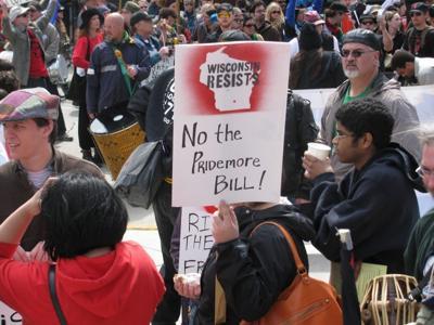 Pridemore immigration bill protesters 2011