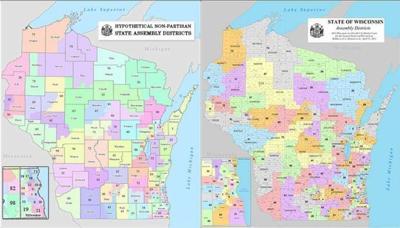 Hypothetical nonpartisan maps