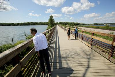 Joe Parisi gives a tour of the Lower Yahara River Trail