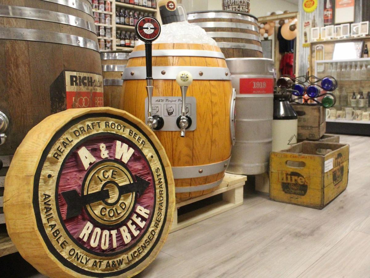Root beer memorabilia on display 3