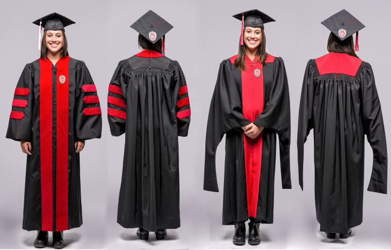 University of Wisconsin updates graduation gowns with red accents ...