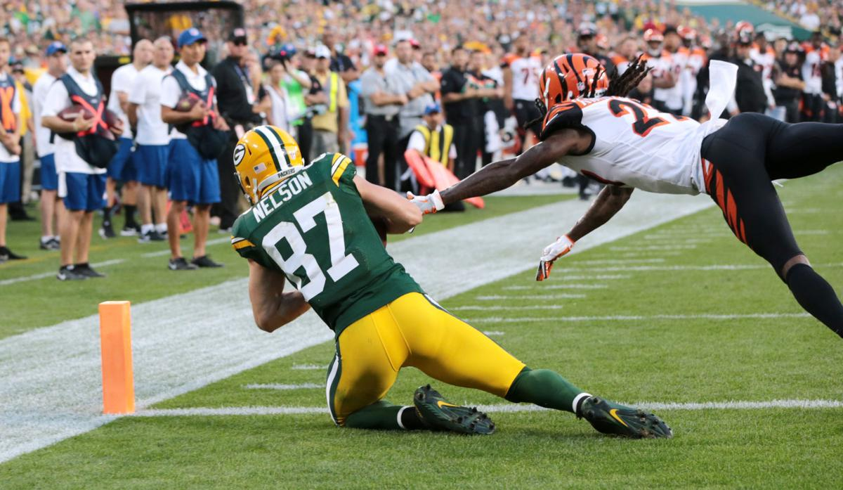 Jordy Nelson TD catch against Bengals, State Journal photo