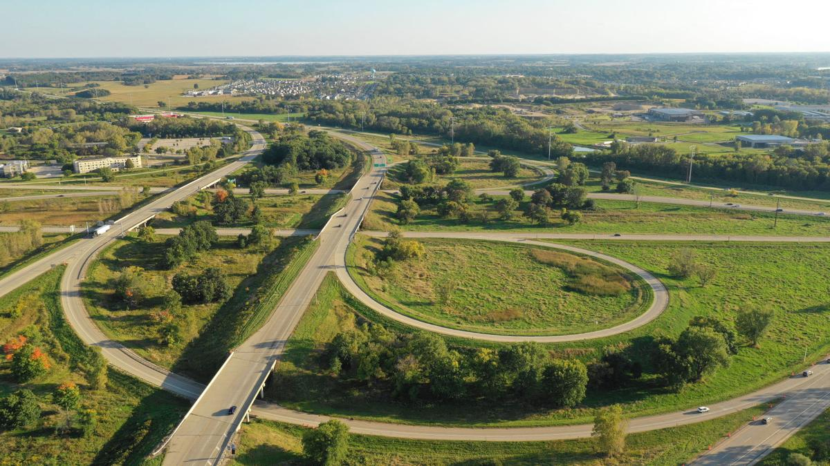 Interstate 39-90 exchange with the Beltline