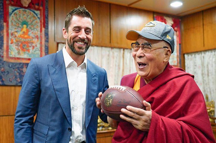 Aaron Rodgers, Dalai Lama