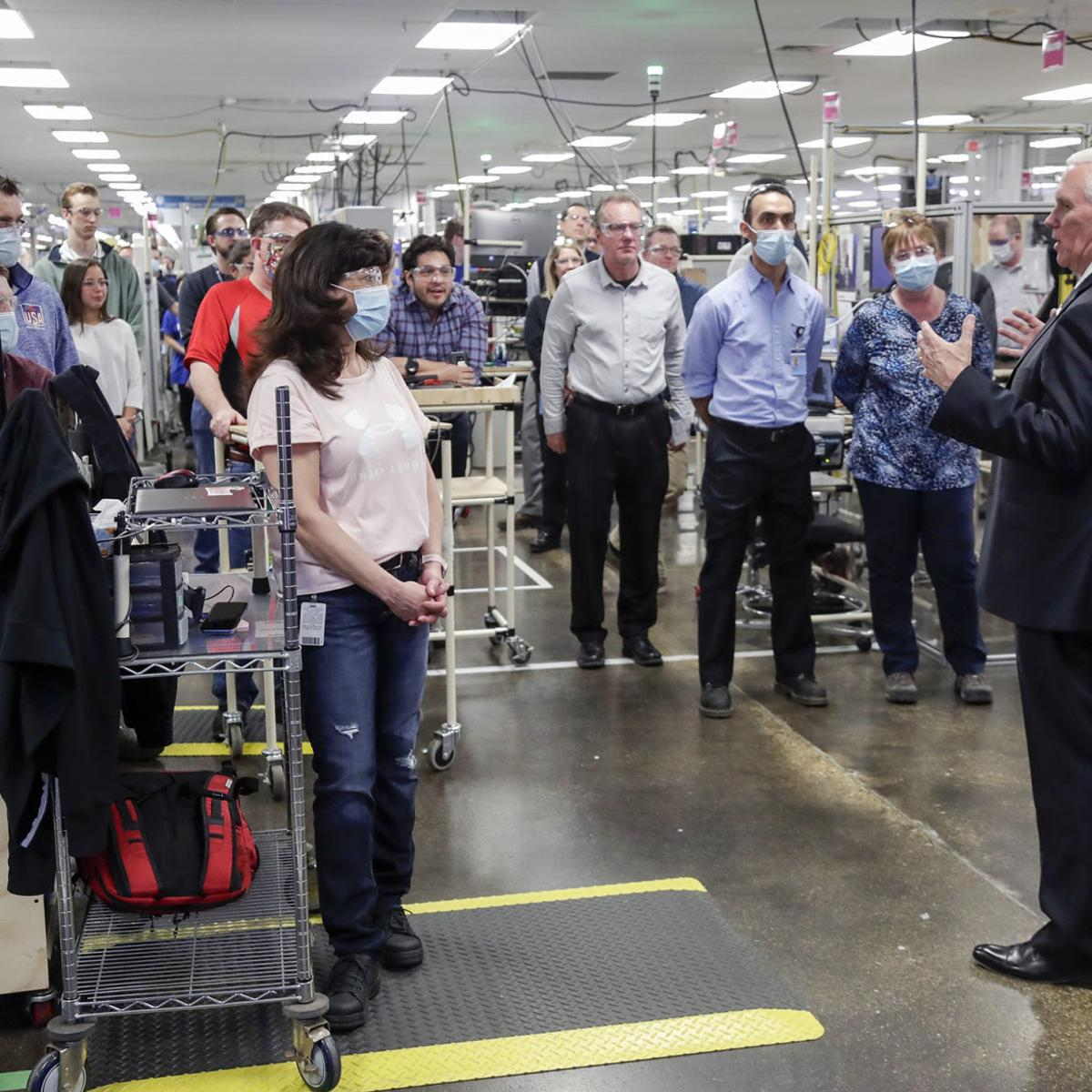 Vp Mike Pence Visits Wisconsin Amid Criticism Of Covid 19 Response Local Government Madison Com