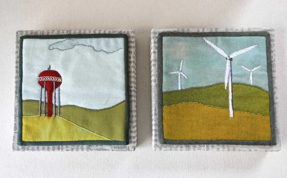 Small textiles by Leah Evans