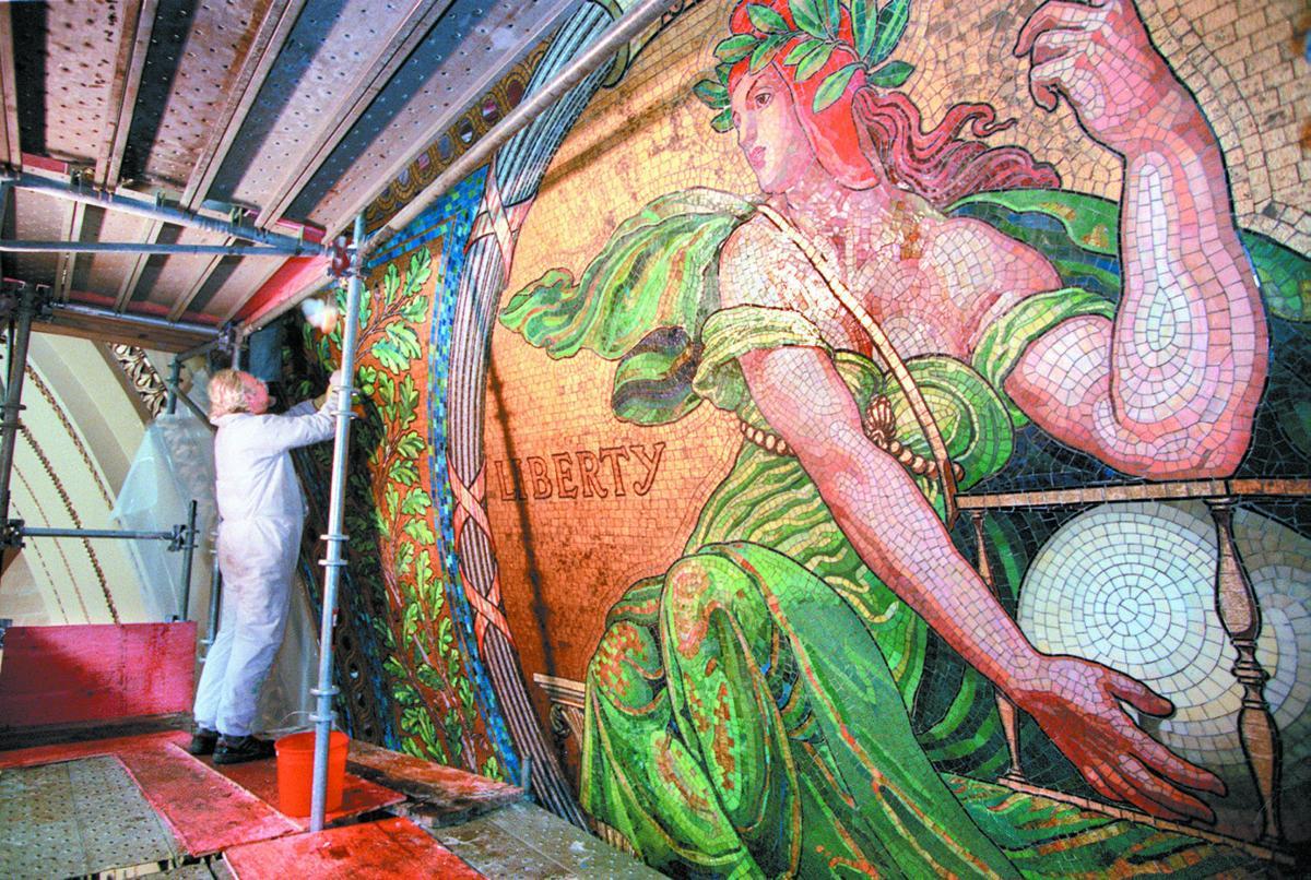 mosaic restoration work 7 2 99